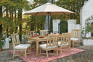 Clare View Dining Table with Umbrella Option, , large