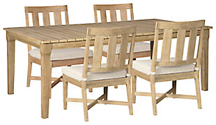 Clare View Outdoor Dining Table and 4 Chairs, , rollover
