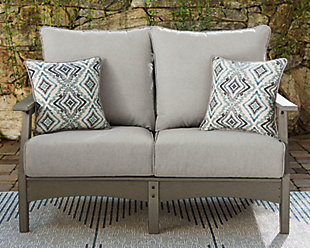 Visola Outdoor Loveseat with Cushion, , rollover