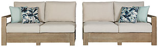 Silo Point Right-Arm Facing/Left-Arm Facing Outdoor Loveseat with Cushion (Set of 2), , large