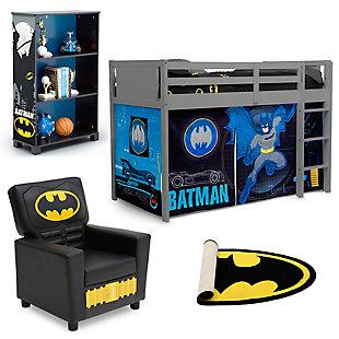 Delta Children Batman Twin Low Loft Bed Bedroom Bundle, , large