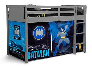 Delta Children Batman Twin Low Loft Bed Bedroom Bundle, , rollover