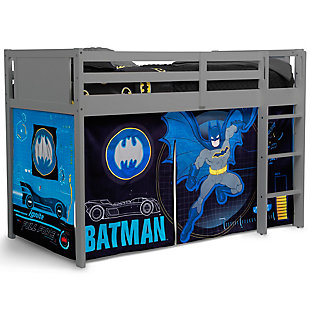 Delta Children Twin Low Loft Bed with Batman Tent/Curtain Set, , large