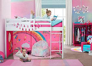 Delta Children Jojo Siwa Twin Low Loft Bed Bedroom Bundle, , rollover