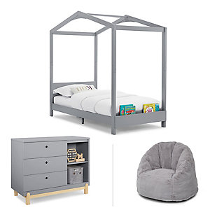 Delta Children Poppy Bedroom Bundle, Gray, , large