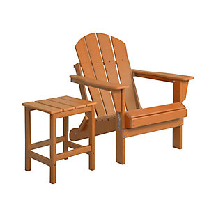 Venice Newport Folding Poly Adirondack Chair and Side Table Set, , rollover