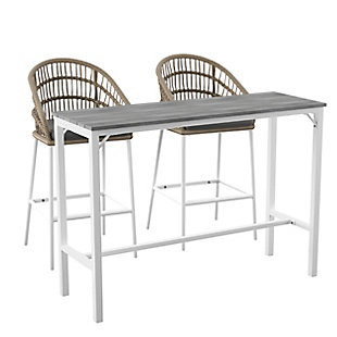 Outdoor Bar Table and 2 Barstools, , large