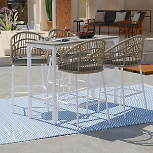 Outdoor Bar Table and 4 Barstools, , rollover