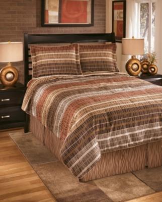 Ashley Wavelength 4-Piece Queen Comforter Set, Jewel
