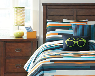 Seventy 5-Piece Twin Comforter Set, Stripe, rollover