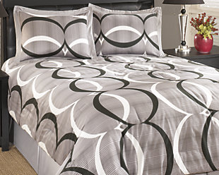 Primo 4-Piece Queen Comforter Set, Alloy, rollover