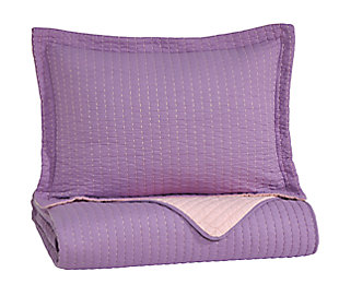 Dansby 2-Piece Twin Coverlet Set, Lavender/Pink, large