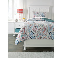 Spectacular child us bed set in floral paisley pattern