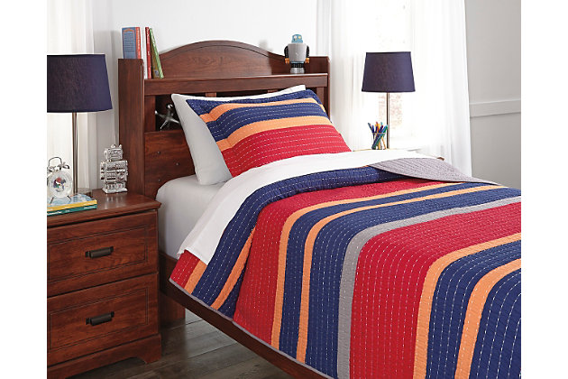 Damond 2-Piece Twin Quilt Set by Ashley HomeStore, Multi