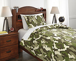 Dagon 2-Piece Twin Comforter Set, Khaki/Tan/Green, rollover