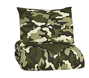 Dagon 2-Piece Twin Comforter Set, Camouflage, large