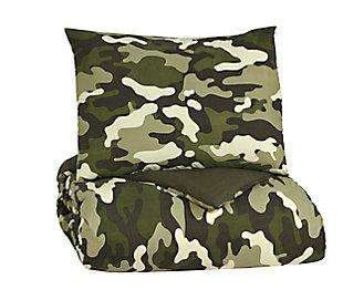 Dagon 2-Piece Twin Comforter Set, Khaki/Tan/Green, large