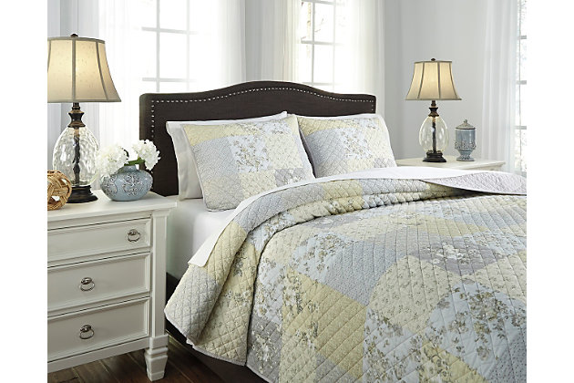Damani 3-Piece King Quilt Set by Ashley HomeStore, Multi