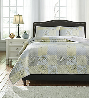 Damani 3-Piece Queen Quilt Set, Multi, large