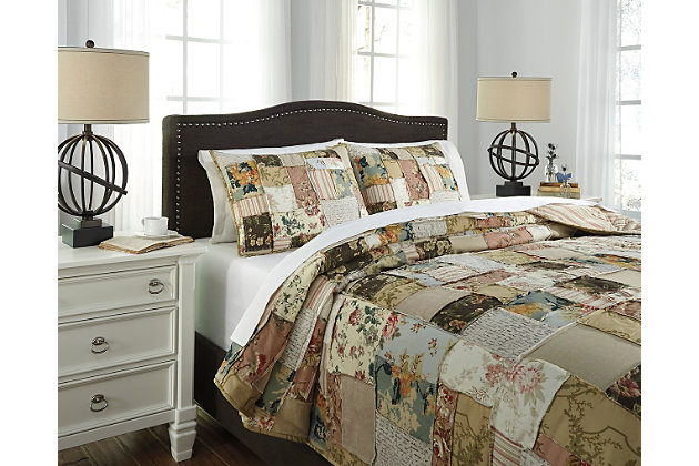 Damalis 3-Piece King Quilt Set by Ashley HomeStore, Multi, Cotton (100 %)