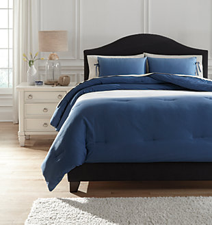 Aracely 3-Piece Queen Comforter Set, Blue, large