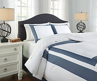 Daruka 3-Piece Queen Duvet Cover Set, Blue, large
