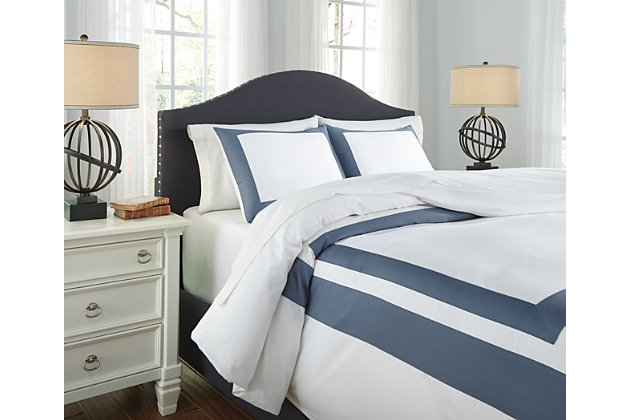 Blue Daruka 3-Piece King Duvet Cover Set by Ashley HomeStore