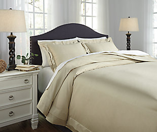 Chamness 3-Piece Queen Duvet Cover Set, Sand, large