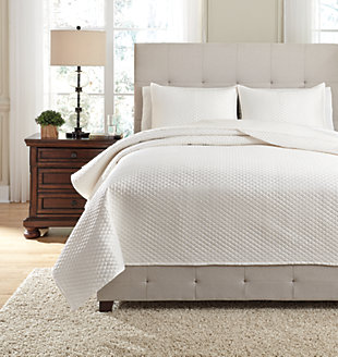 Dietrick 3-Piece Queen Quilt Set, Ivory, large