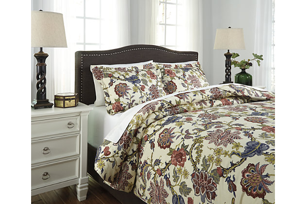 Dameka 3-Piece King Duvet Cover Set by Ashley HomeStore, Floral
