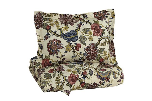 Dameka 3-Piece King Duvet Cover Set by Ashley HomeStore, Floral