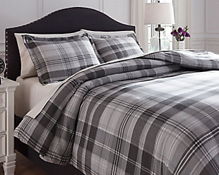 Danail 3-Piece King Duvet Cover Set, Gray, large