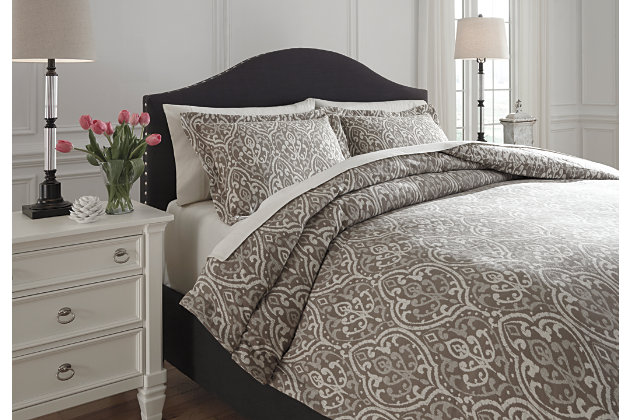 Danila ensemble de housse de couette pour grand lit 3 for Housse de couette laura ashley