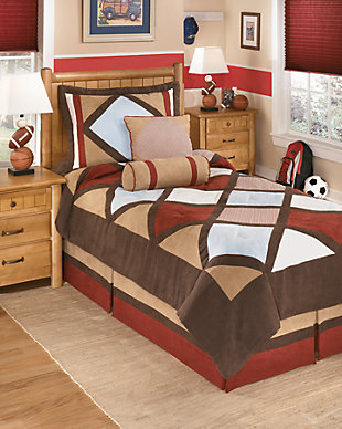 Academy 5-Piece Twin Comforter Set, Multi, large