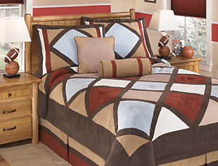 Academy 6-Piece Full Comforter Set, Multi, rollover