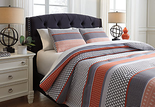 Anjanette 3-Piece Queen Comforter Set, , large