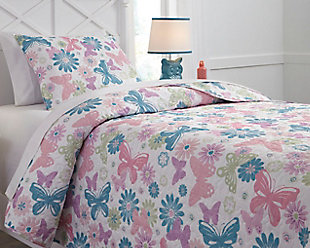 Jobeth 2-Piece Twin Quilt Set, Multi, rollover