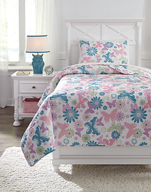 Jobeth 2-Piece Twin Quilt Set, Multi, large