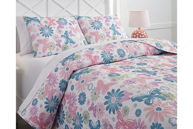 Jobeth 3-Piece Full Quilt Set by Ashley HomeStore, Multi,...