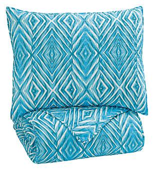 Jolana 2-Piece Twin Quilt Set, Turquoise, large