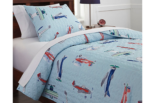 McAllen 2-Piece Twin Quilt Set, Multi, large