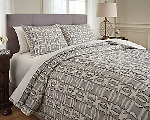 Nilay 3-Piece King Duvet Cover Set, , rollover