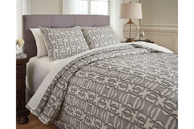 Nilay 3-Piece King Duvet Cover Set, , large