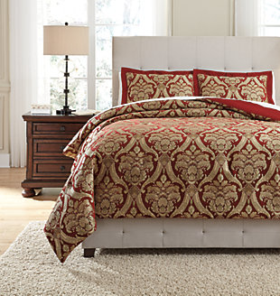 Asasia 3 Piece Queen Comforter Set. New   Ashley Furniture HomeStore