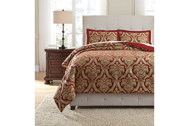 Asasia 3-Piece Queen Comforter Set, , large