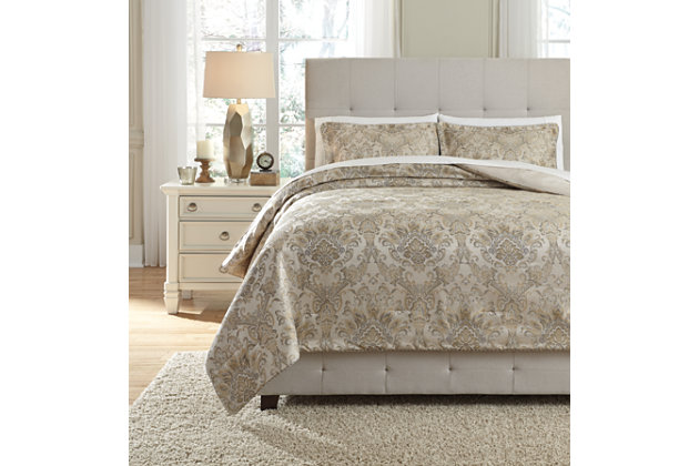 Amil 3-Piece Queen Comforter Set by Ashley HomeStore, , P...