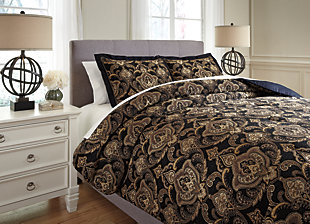 Amberlin 3-Piece Queen Comforter Set, , rollover