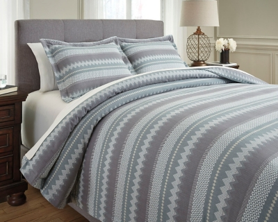 Asante 3-Piece King Duvet Cover Set by Ashley HomeStore, ...