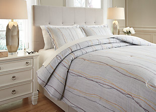 Bevan 3-Piece Queen Comforter Set, Multi, rollover