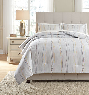 Bevan 3-Piece Queen Comforter Set, Multi, large